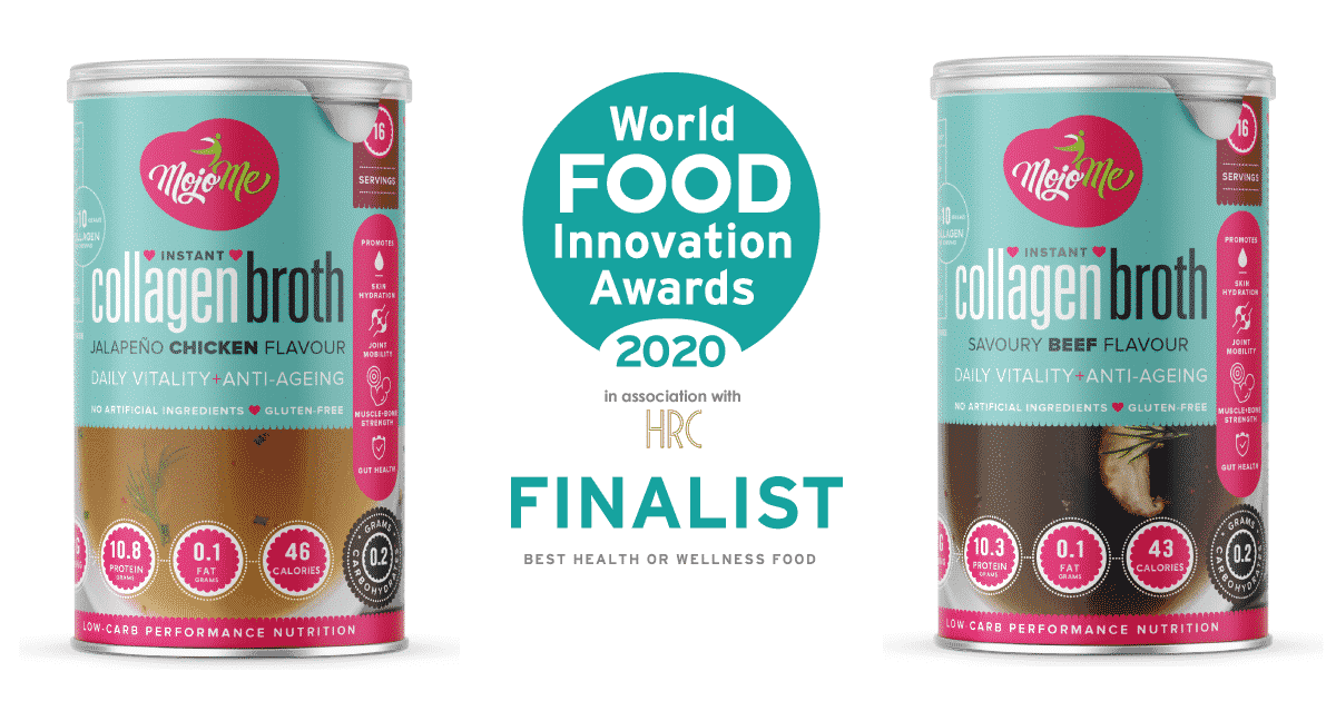 MojoMe Instant Collagen Broth FoodBev 2020 Finalist